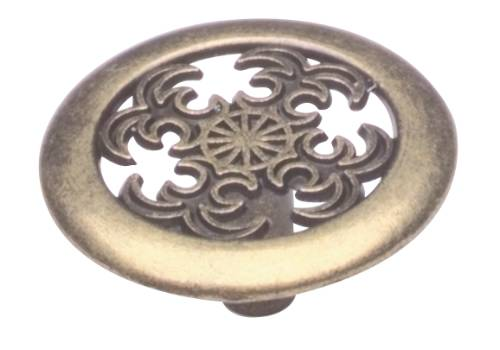 CABINET KNOB 1-1/2 IN. ANTIQUE BRASS