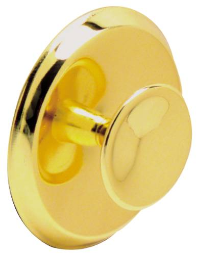KNOB AND BACKPLATE 2-3/4 IN. DIAMETER POLISHED BRASS
