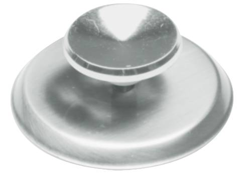KNOB AND BACKPLATE 2-3/4 IN. DIAMETER CHROME