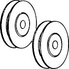 REPLACEMENT PATIO DOOR ROLLERS 1-1/2 IN. OR 1/4 IN. OR 5/16 IN.