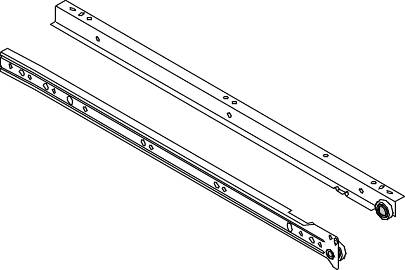 DRAWER SLIDES 18 IN. SELF CLOSING