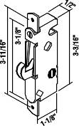 PATIO DOOR MORTISE LATCH