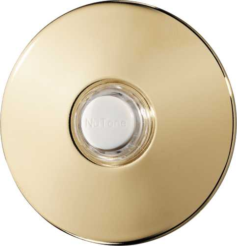 BROAN-NUTONE PUSHBUTTON, POLISHED BRASS UNLIGHTED