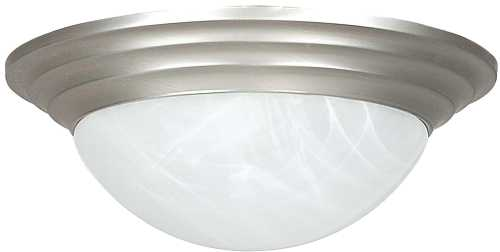CEILING FIXTURE TWO LIGHT SATIN NICKEL
