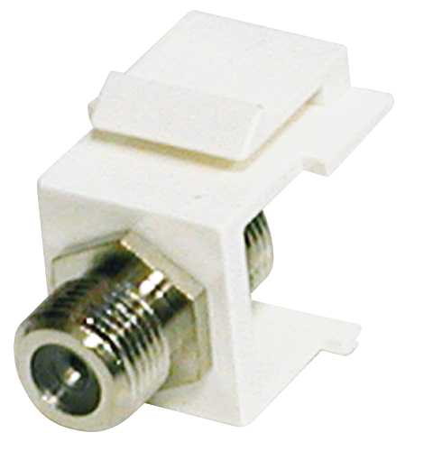 LOW VOLTAGE LIGHTING F TYPE CONNECTOR WHITE