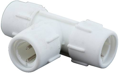 LIGHTING ROPE STYLE CONNECTOR T TYPE WHITE