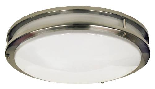 FLUSH MOUNT CEILING FIXTURE WITH ONE 22 WATT AND ONE 32 WATT CIR