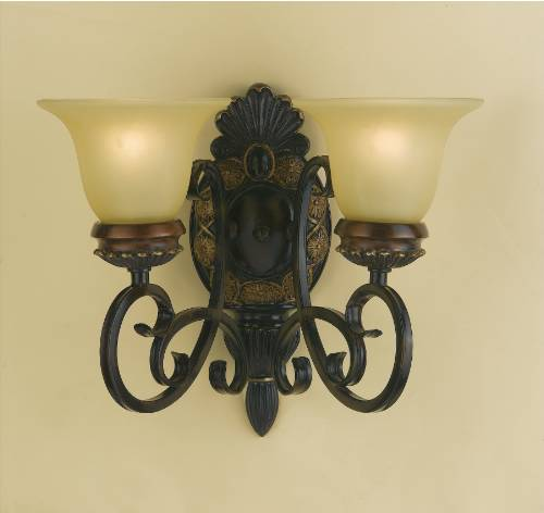 #(1) 2 LIGHT ACL SCONCE 3.7