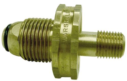 SOFT NOSE POL WITH HEX BRASS HANDWHEEL 1/4 IN. MPT
