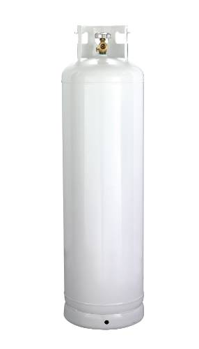 CYLINDER, 100 LB, WITH 10% VALVE, LP GAS
