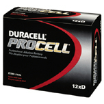 PROCELL INDUSTRIAL BATTERIES D-CELL ALKALINE