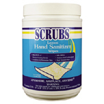 SCRUBS ANTIMIC HAND WIPES LEMON 6/120
