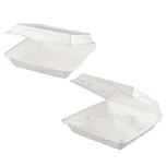 "HINGED CONTAINR 9"" 3 COMPARTMENT BIODEGRADABLE 200"