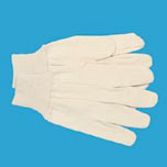 MENS CTTN CANVAS GLOVE LG 8 OZ CLUTEUT WHI DZ