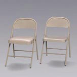 FLD CHAIR 16.8X16.3X29.3 STEEL W/ PAD SEAT BEI 4