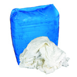 BLEACHED KNIT RAGS- BOX 25 LBS