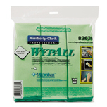 WYPALL MICROFIBER CLOTHS GREEN 4/6'S