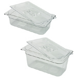 COLD FOOD PAN COVER W/PE G HOLE 1/3 SZ 6
