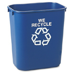 WE RECYCLE RECT CNTNR L BLU 12/CTN