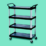 XTRA 4-SHELF UTILITY CART 51 IN BLA