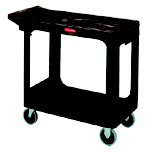 UTILITY 2 FLAT-SHELF CART 500 LB STRUCT FOAM BEI
