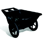 BIG WHEEL CART 7.5 CU FT 58X32.75X28.25 BLA