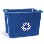 18 GALLON RECYCLING BOX W/PCR, BLUE, 6