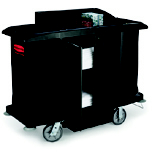 FULL SZ HOUSEKEEP CART W/ DOOR 60X22X50 BLA