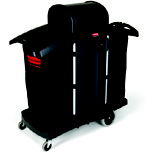 HI-SECURITY HOUSEKEEP CART 51.75X22X53.5 BLA
