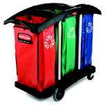 CLEANING CART TRIPLE BAG