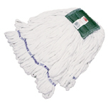 ROUGH FLR LOOP END WET MOP MED 5 IN CTTN/POLY WHI 12