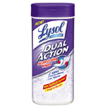 LYSOL DUAL ACTION SCRUB WIPES 12/28CT