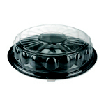 LID PLS DOME 12IN 25/CS