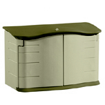 HORIZONTAL STORAGE SHED 55X28X36 TAUPE/GRE