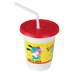 12OZ KIDS CUP,LID,STRAW CRITTERS DESIGN 250