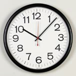 "QUARTS WALL CLOCK 12"" BLK"