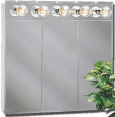 BEVELED MIRROR 48 IN. LIGHTED TRI-VIEW MEDCINE CABINET